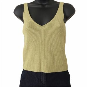 Lemon collections cashmere like sleeveless sweater